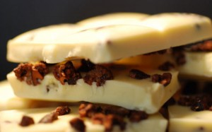 White Chocolate Bar with Nibs
